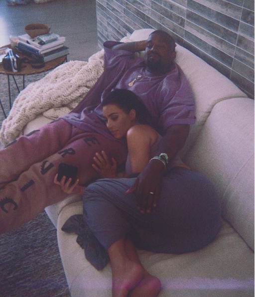 Kim Kardashian And Her Husband Kanye West Loved Up In New Photo