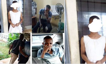 Man arrested for aborting 5-months pregnancy of 15-year-old he got pregnant (photos)