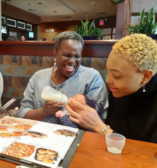 Grandparents duties! Joke Silva and hubby, Olu Jacobs, bond with their grand daughter (photos)