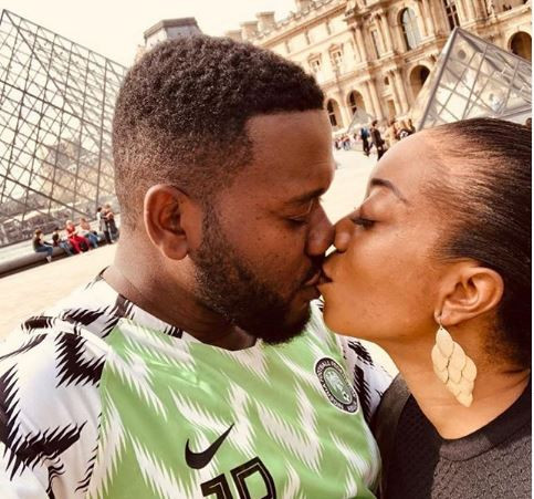 After six years and two kids, Nollywood actor Deyemi Okanlawon flies his wife to Paris to fulfill his honeymoon promise