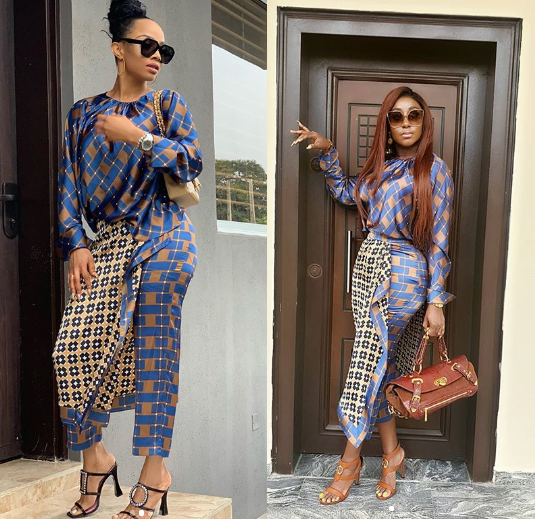 WOW! Between Toke Makinwa and Ini Edo, who wore this outfit better?
