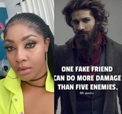 Angela Okorie rains curses on unfriendly friend in her life sleeping with her man