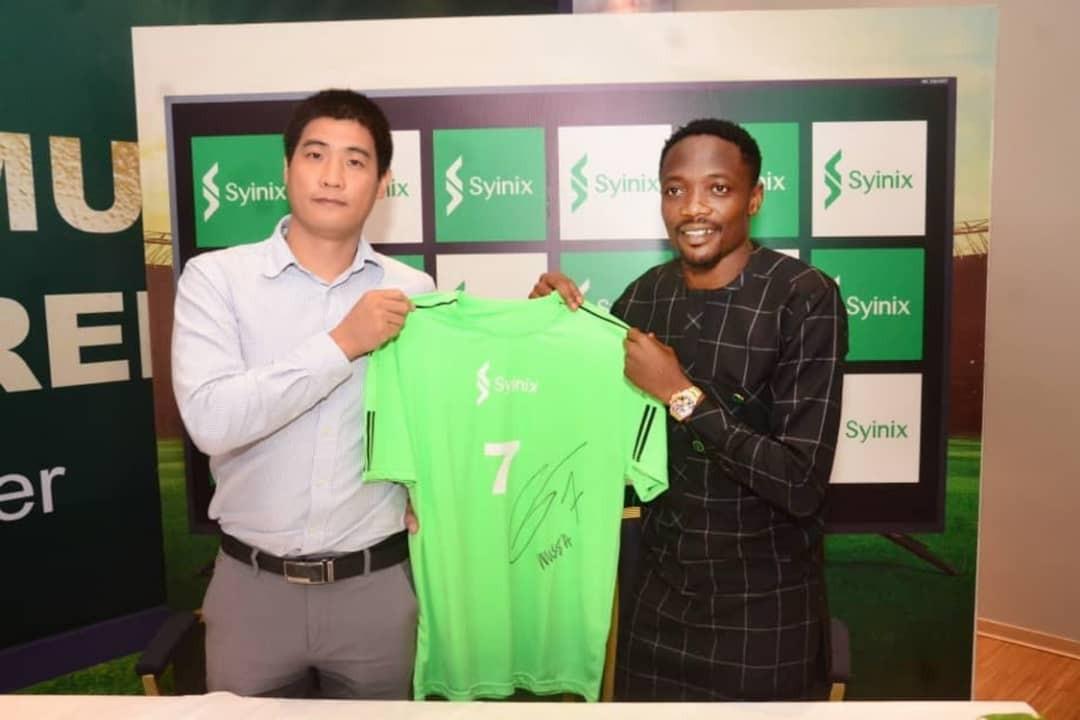 A company named Syinix Limited signs Mr. Ahmed Musa as Brand Ambassador