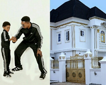 Comedian, I Go Dye, gifts his son a massive house as he turns 9 today (photos)