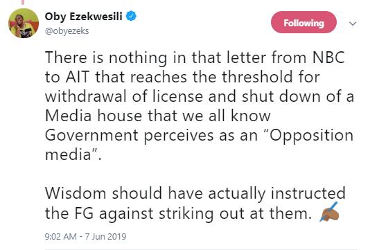 NBC wants AIT to be like NTA ? Oby Ezekwesili