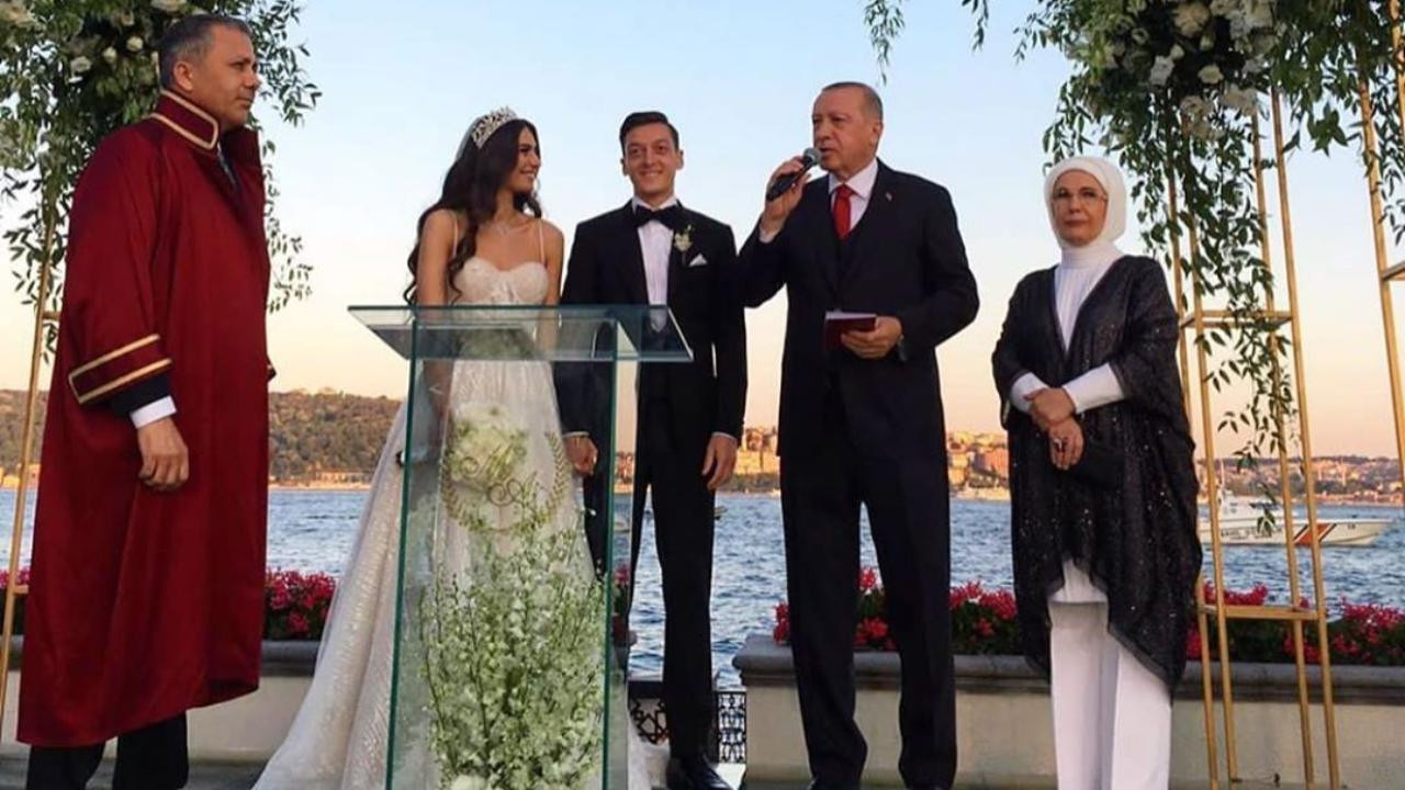 Turkish President Recep Tayyip Erdogan served as best man at footballer Mesut Ozi