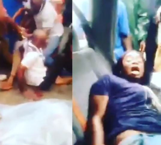 My husband is a ritualist -?Nigerian woman who was tied up at the back of an SUV with her son cries out after she was rescued (Video)