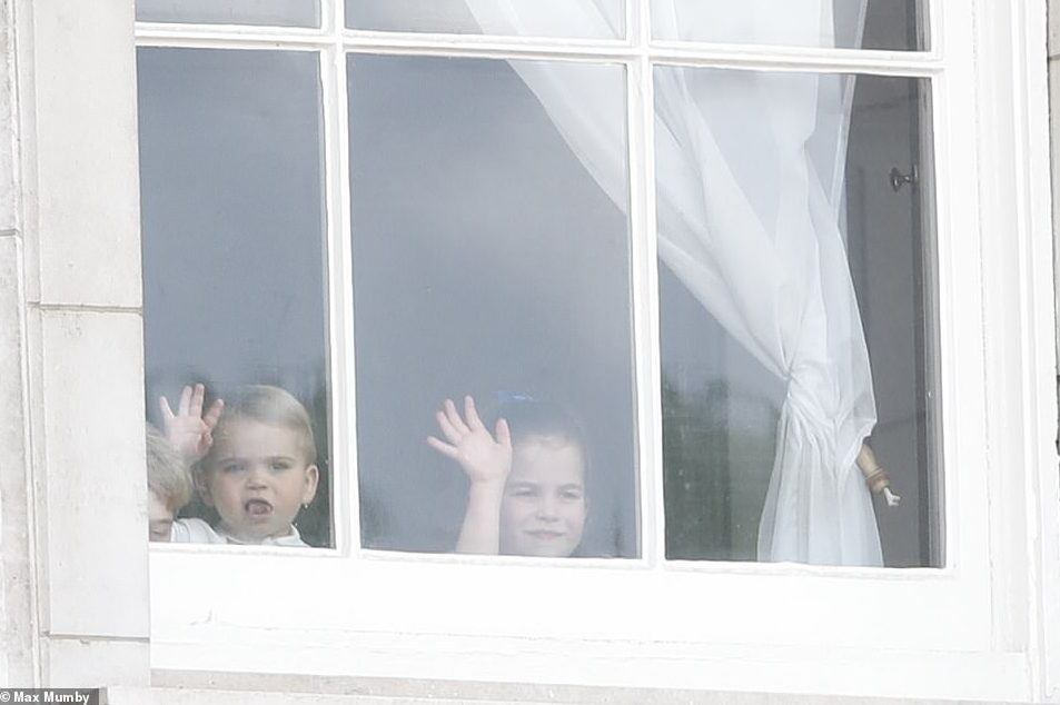 Prince Louis makes his Buckingham Palace balcony debut as he joins his siblings for Trooping of The Colour