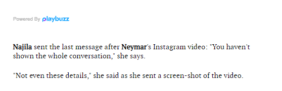 WhatsApp conversations between Neymar and rape accuser Najila Trindade released (Screenshots)