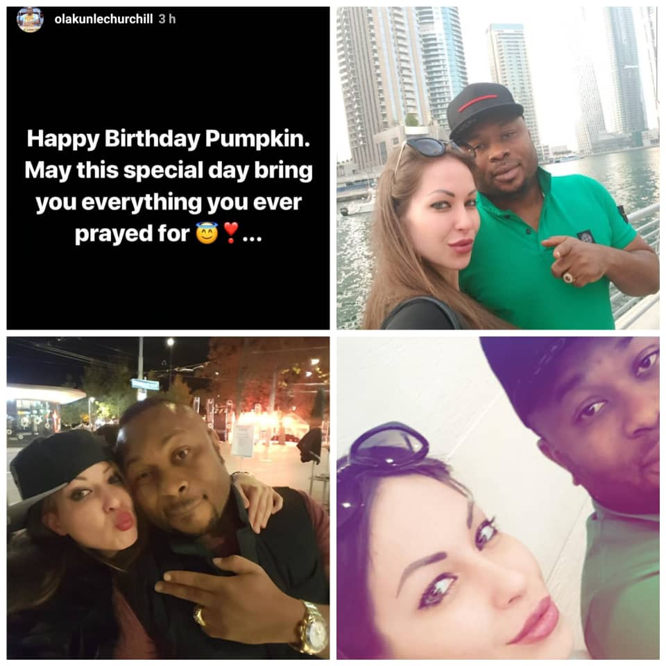 Tonto Dikeh's ex-hubby, wishes Caucasian lady a happy birthday