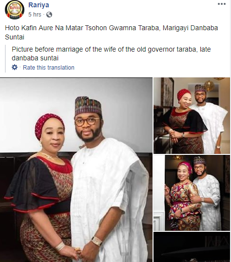 Former Taraba state first lady Hauwa Suntai reportedly set to wed young millionaire, see their pre-wedding photos