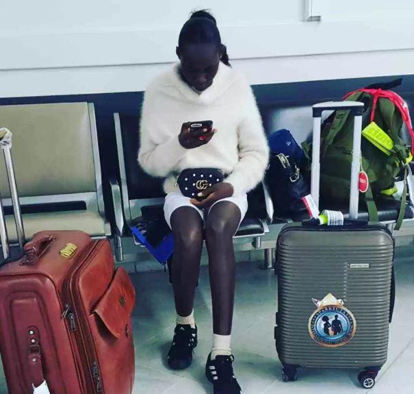 Ghanaian fashion model runs away after arriving in Paris for an event (Screenshots)