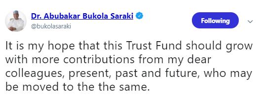 Saraki donates N7.4m severance allowance to Leah Sharibu?s family, others