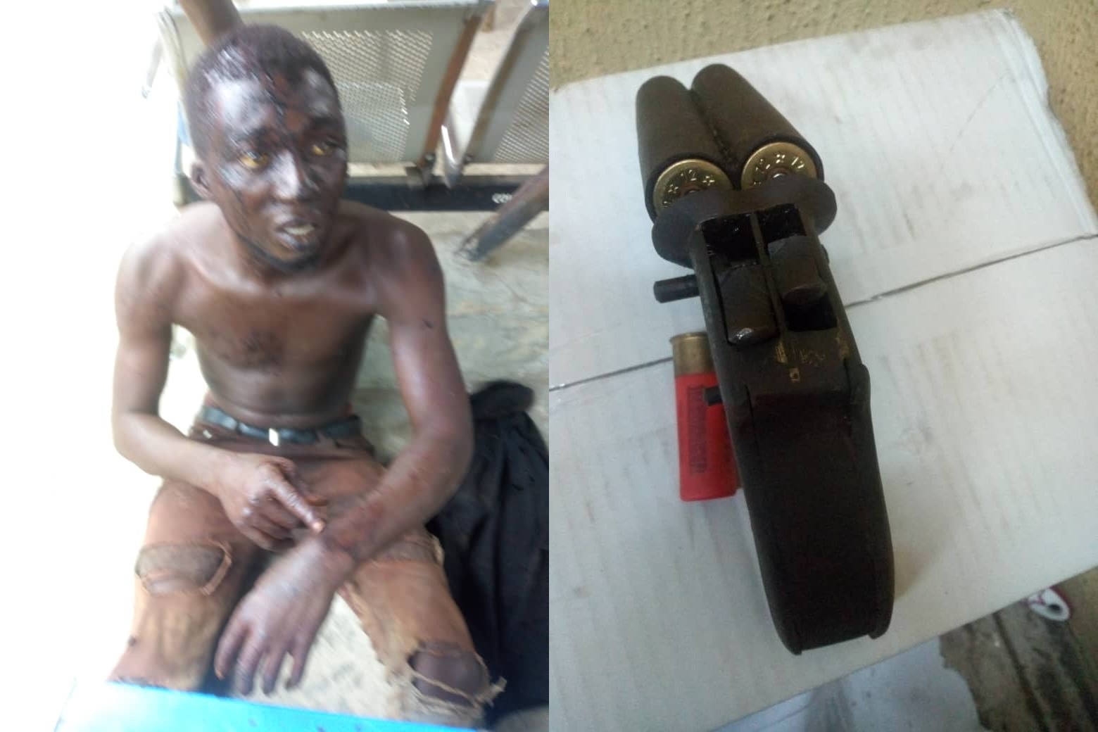 Two-man motorcycle snatching syndicate arrested and arms recovered (photos)