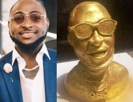 This statue of Davido is the funniest thing you will see online today (Photo)