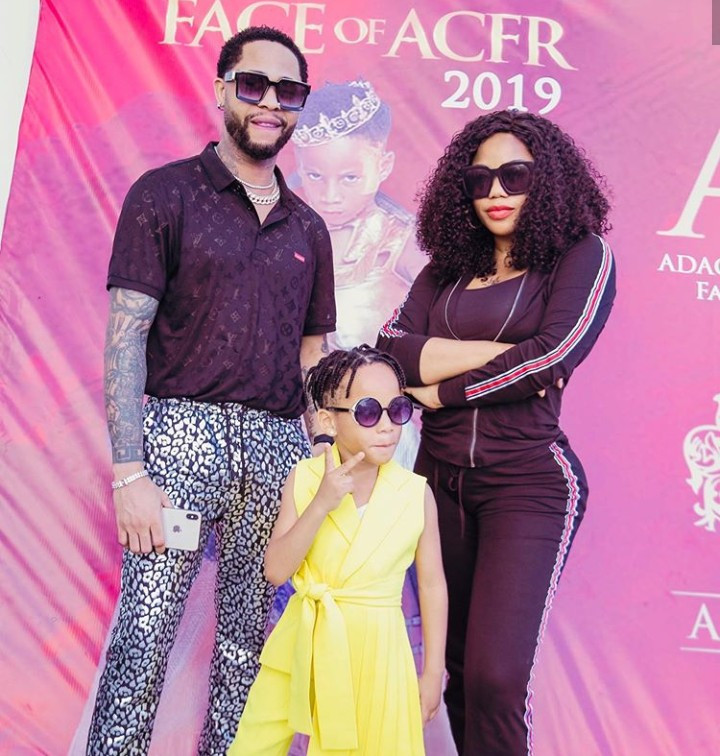 """""""Never let your kids suffer the sins of their father"""" Toyin Lawani says as she and her son"""