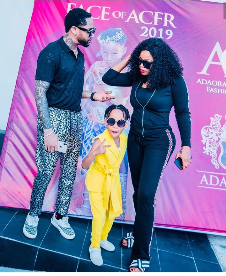 """Never let your kids suffer the sins of their father"" Toyin Lawani says as she and her son"