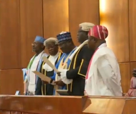 Photos: Ahmed Lawan sworn in as 9th Senate President