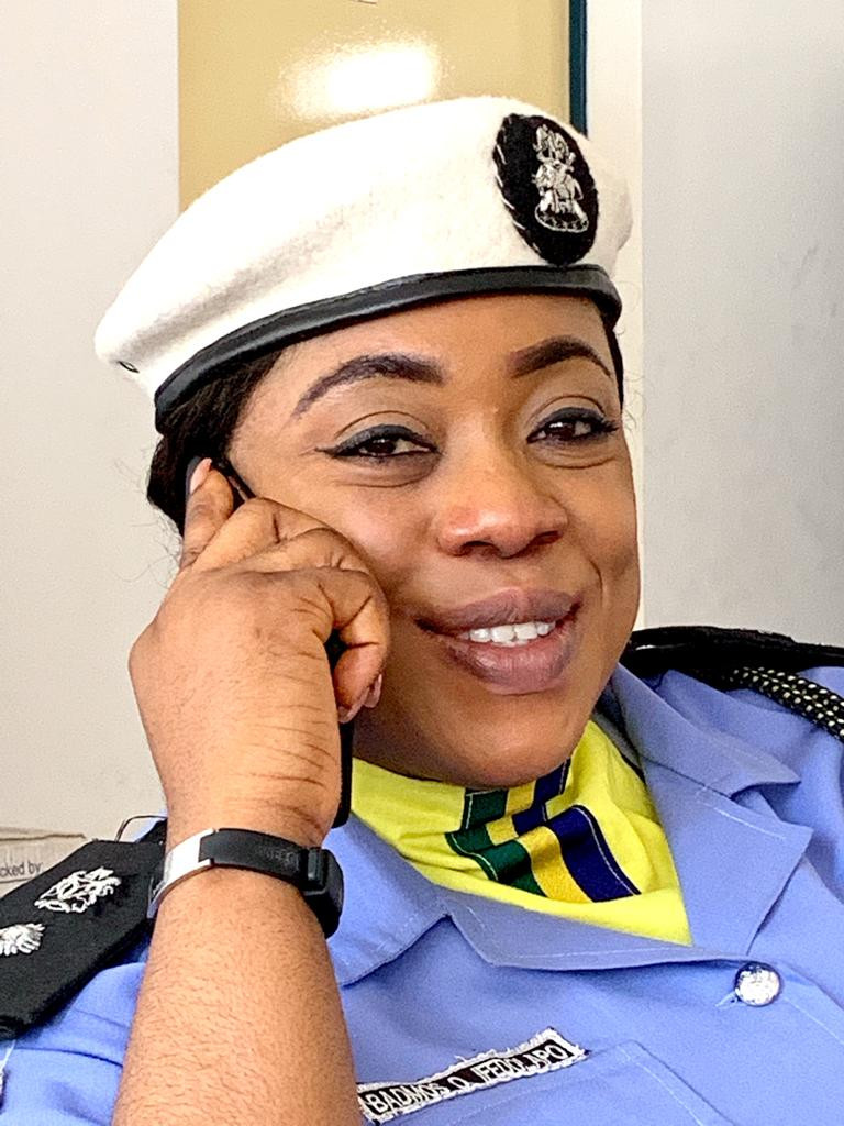 Former Police PRO Dolapo Badmos rocks new police outfit following her deployment to the disciplinary department   (Photos)