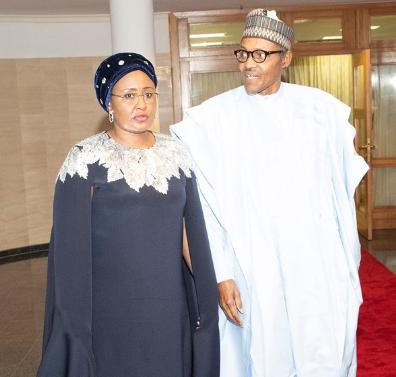 Aisha Buhari rocked $2,145 Oscar De LaRenta cape dress to Democracy Day gala night