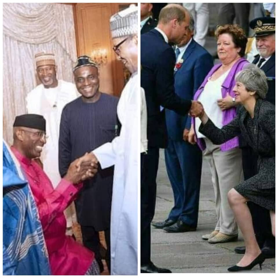 Photos: Between Deputy Senate President Ovie Omo-Agege and UK Prime Minister Theresa May