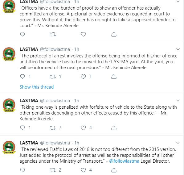 LASTMA officials have the right to arrest road users who do not use seat belts or make?phone calls while driving - Kehinde Akerele explains