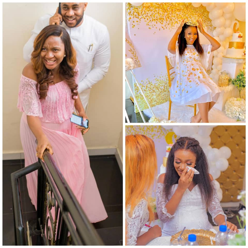 Photos from ex-beauty queen/pilot Powede Eniola Awujo's surprise baby shower
