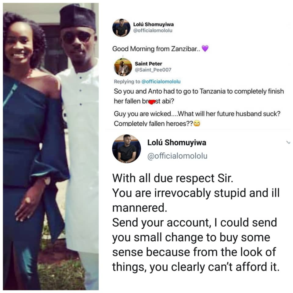 Who knew ex-BBNaija housemate, Lolu, was this savage....choi