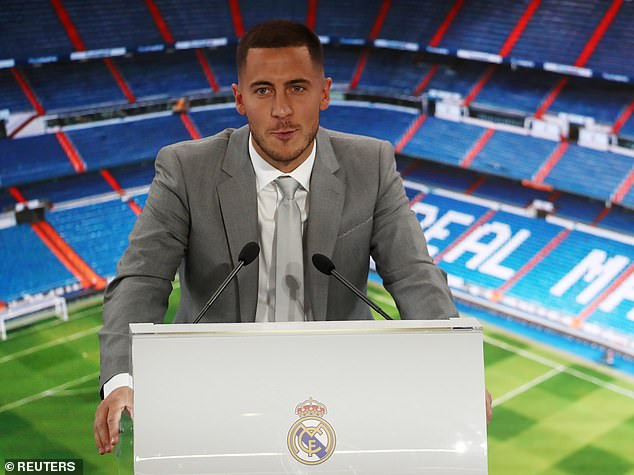 Real Madrid unveil Eden Hazard at Bernabeu after completing his ?150m move from Chelsea (Photos)