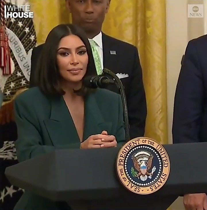 Kim Kardashian speaks at criminal justice reform event at the White House