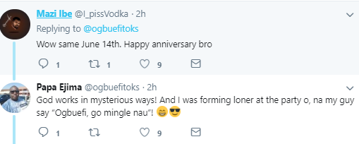 """""""You should go out more: Twitter user narrates how he met his wife exactly four years ago at a party he almost didn"""