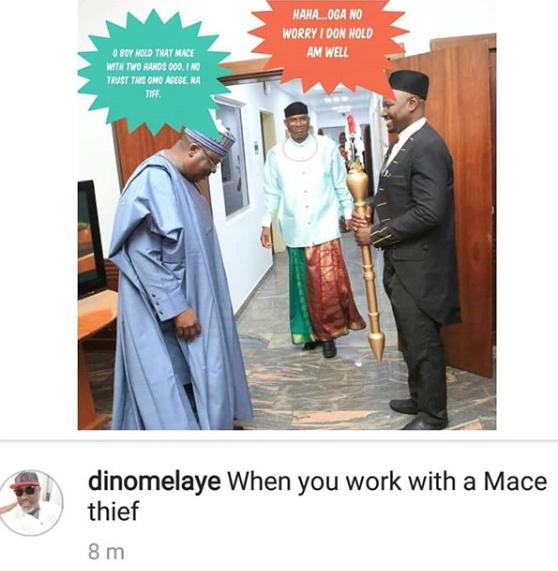 Dino Melaye trolls new deputy senate president, Ovie Omo-Agege on IG