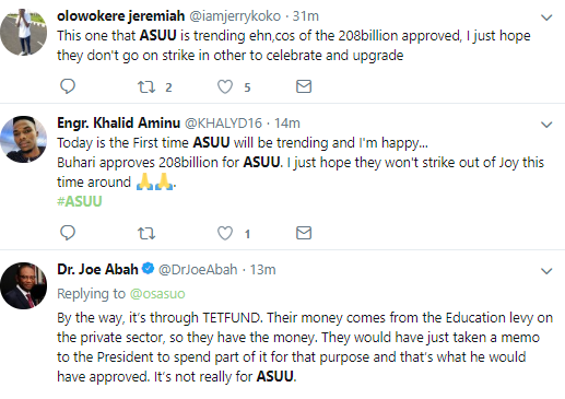 Here is the reason why #ASUU is the number 1 trending topic on Twitter this morning
