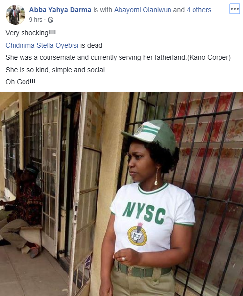 Sad! Eight months after her wedding, corps member dies minutes after welcoming baby girl (photos)