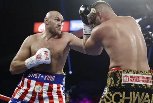 Tyson Fury defeats Tom Schwarz with a second-round TKO