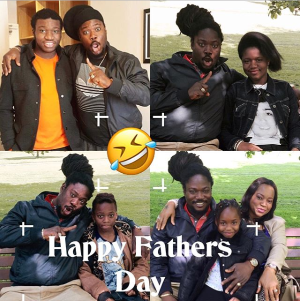 Daddy Showkey shares photo of his beautiful family as he celebrates Father