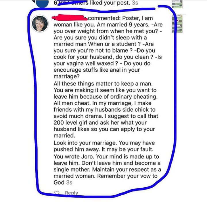 See the shocking reply a woman gave to a pregnant lady who revealed her husband is cheating with and impregnated a 200L student