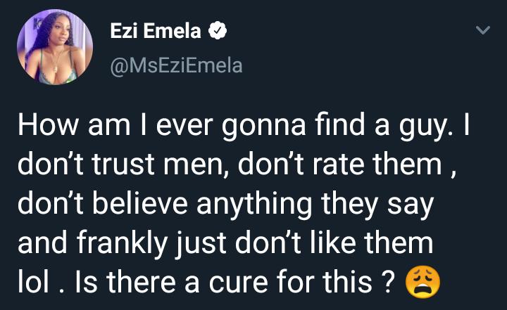 Nigerian lady who says she dislikes men wonders how she