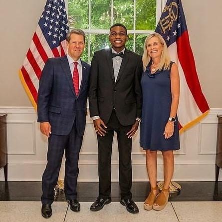 Photos: Lagos NURTW boss, MC Oluomo and family meet Governor of Atlanta Georgia, Brian Kemp (Photos)