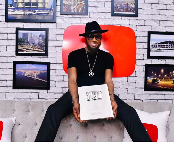 YouTube: Dbanj receives Silver Creator Award for 100,000 subscribers