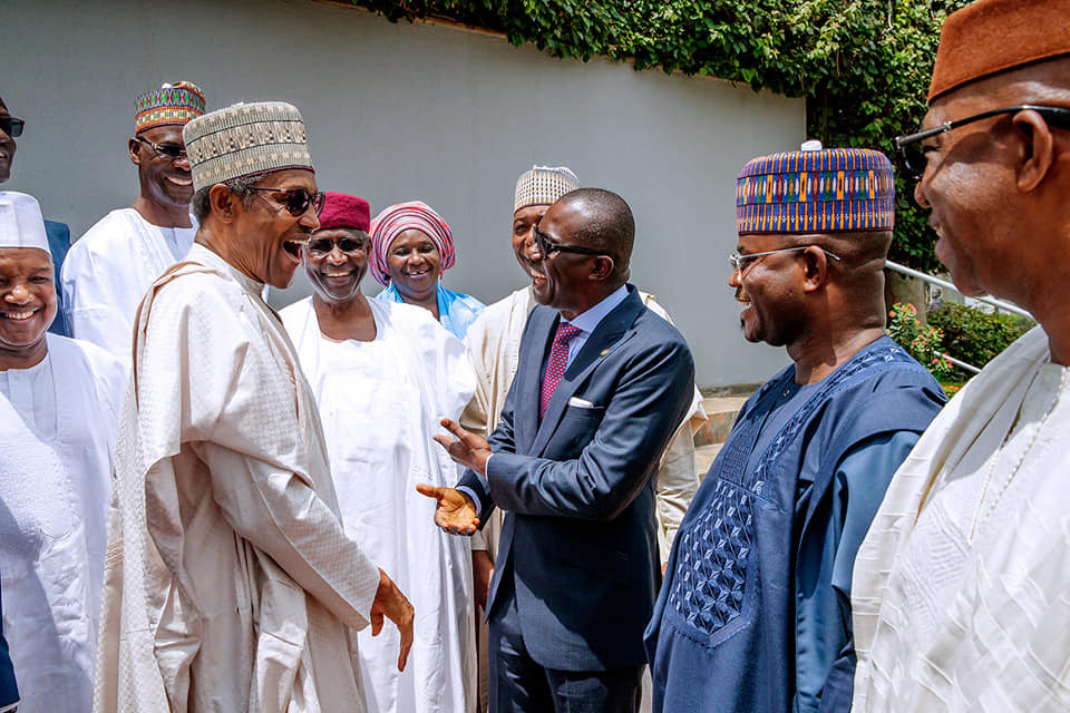 President Buhari meets with?APC Governors in Abuja (Photos)
