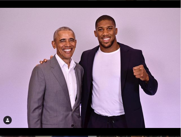 Anthony Joshua meets former US president Barrack Obama?(Photo)