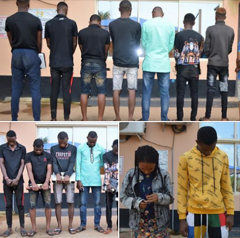 Nine suspected fraudsters arrested and paraded in Oyo (photos)