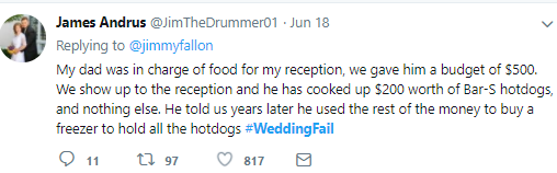 These tweets detailing things that went wrong at various weddings will have you in stitches