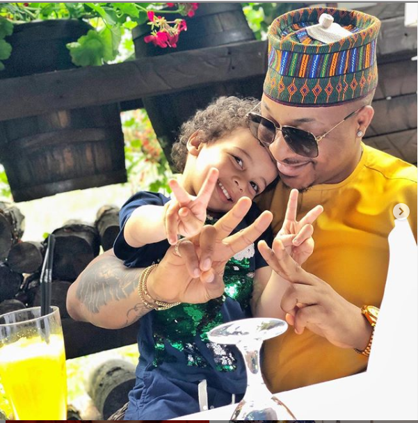 Ik Ogbonna pictured with his son Ace as he celebrates his 4th birthday?(Photos)