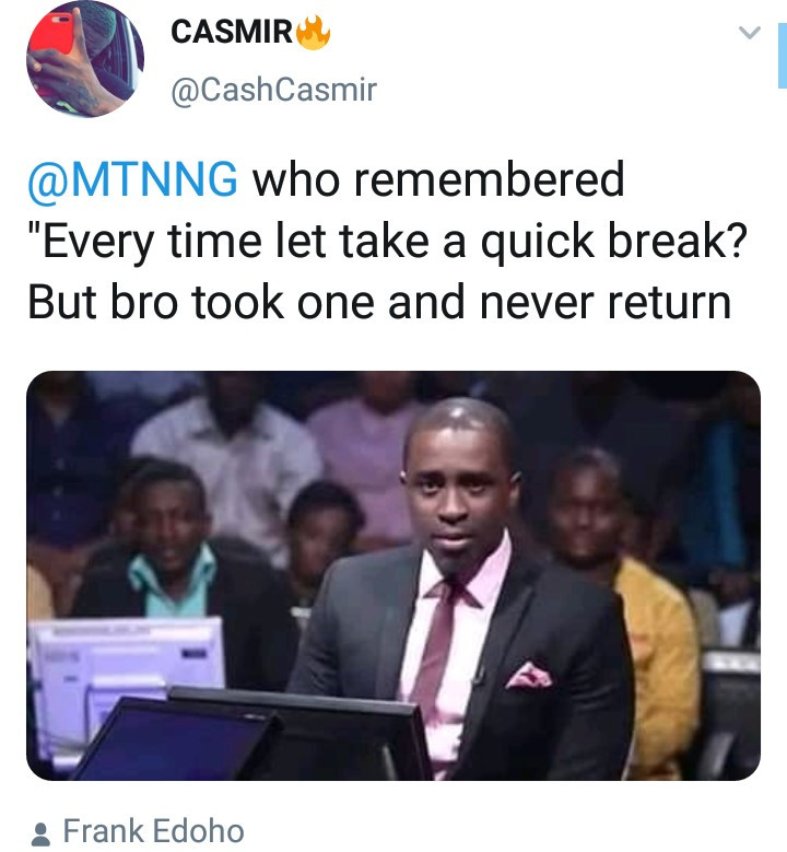 Frank Edoho clapsback at a follower who tweeted at him and it