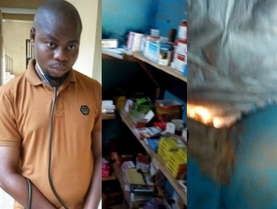 Photos: Fake medical doctor apprehended in Osun