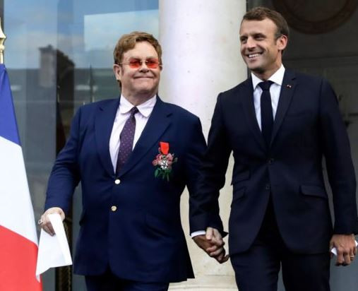 French President, Emmanuel Macron awards Elton John with the country