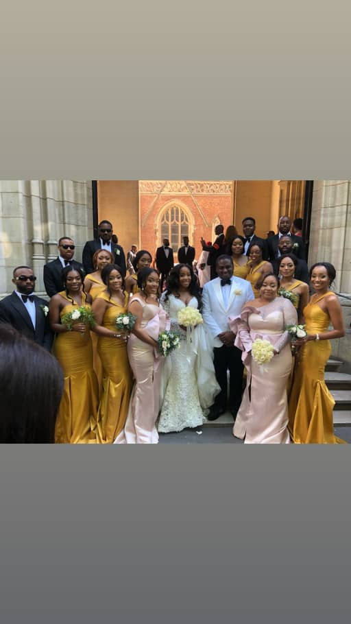 Photos from the white wedding of billionaire son, Eyinna Anumudu to top MUA Joyce Jacob in Paris