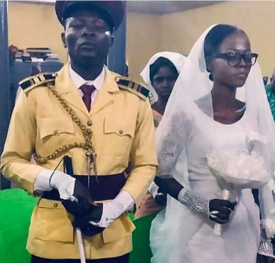Photos: LASTMA officer, Yesufa Olawale?who lost his sight while discharging his official duties gets married in Lagos